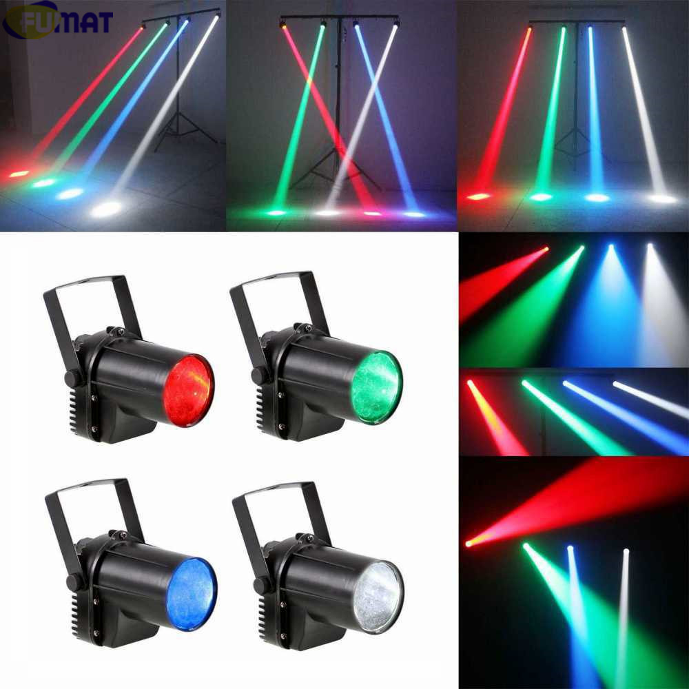 FUMAT ABS 3-Watt LED Pin Spot Projection Lighting Wedding Props Beam Lamp Bar KTV Dance Hall Sound Control Mini Stage Lighting