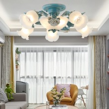 American pastoral flower Ceiling light for personality fashion living room lights bedroom lamp creative romantic lamp LED light