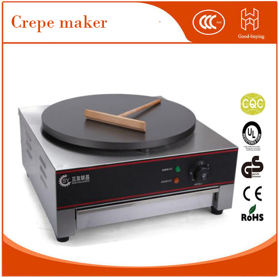 freeshippping 40cm Diameter kitchen applicance snack food machine electric commercial Crepe maker