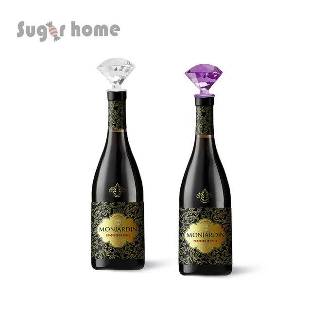 1 set Two color plastic diamond Wine Stopper Bridal Wedding Gift ...