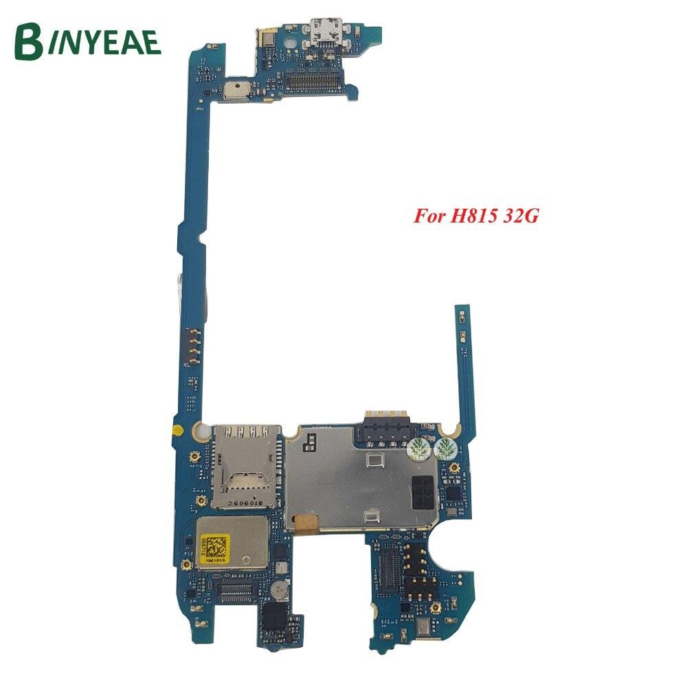 BINYEAE remplacement de la carte mère principale d'origine pour LG G4 H815 carte mère 32 GB débloqué