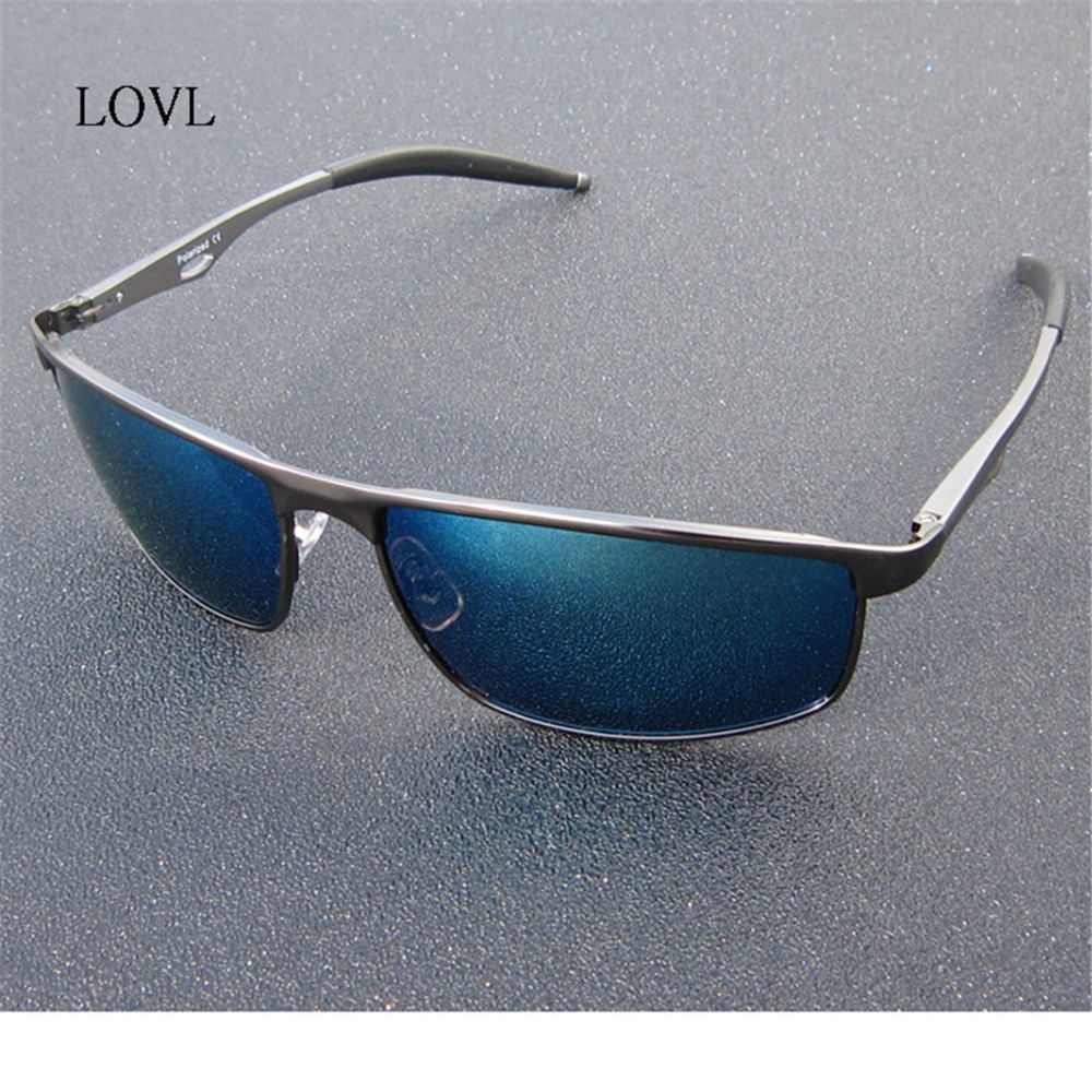 2018 Men Polarized Sunglasses blue Coating Sun Glasses women brand sunglasses UV400 gift oculos de sol L393