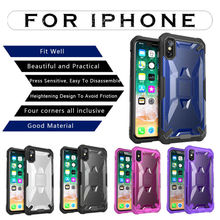 Luxury Armor Heavy Duty Protection Doom armor Shockproof Sturdy Case for iPhone X XS MAX XR 8 6 6S 7 Plus Cove PC+TPU