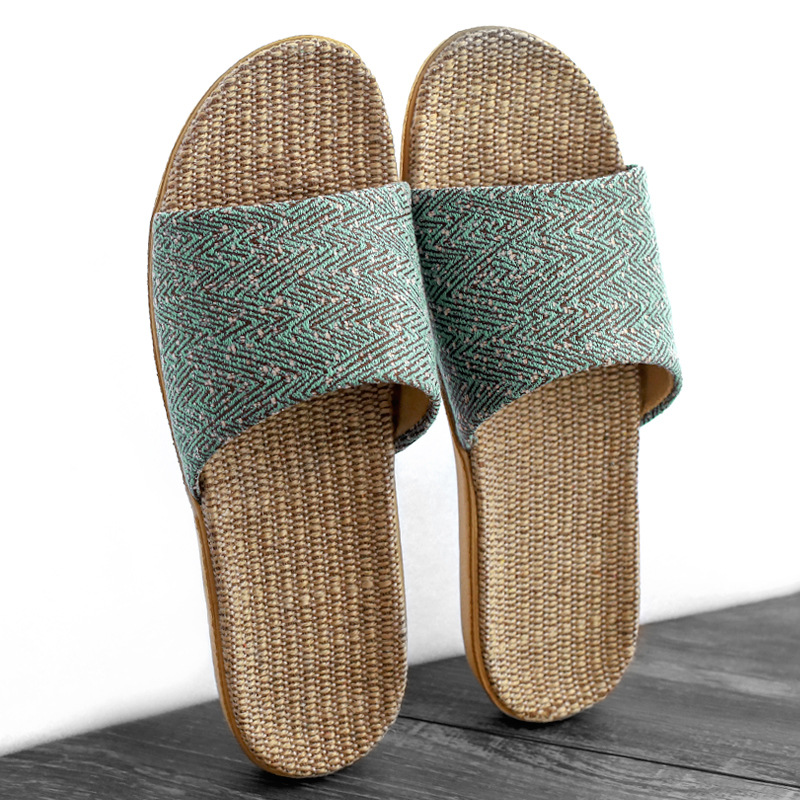 Suihyung Women Indoor Slippers 2020 New Summer Breathable Linen Platform Slippers Home Casual Slides Non-slip Flax Flip Flops