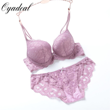 Western style Brand Women sexy lingerie Lace Embroidery underwear set bra brief sets push up Deep V bra set and panty set