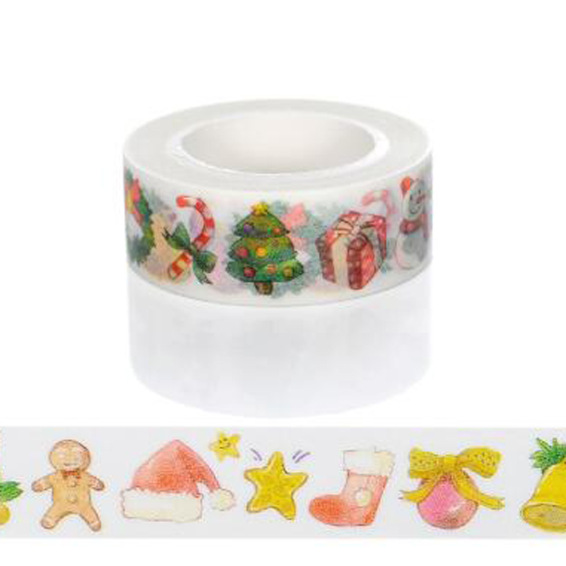 10m*15mm Creative Christmas Gift Washi Tape Adhesive Paper Tape School Office Supplies DIY Scrapbooking Decorative Sticker Tape