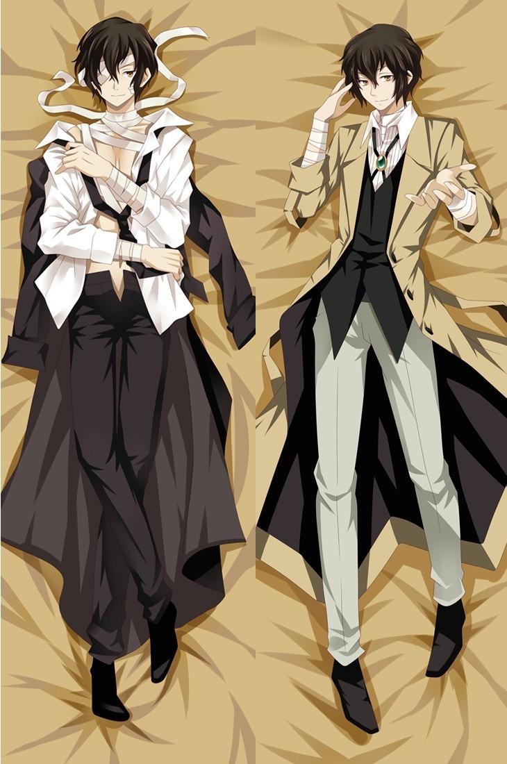 New Osamu Dazai - Bungo Stray Dogs Anime Japanese Hugging Body Pillow Cover Case Bedding Dakimakura Pillows
