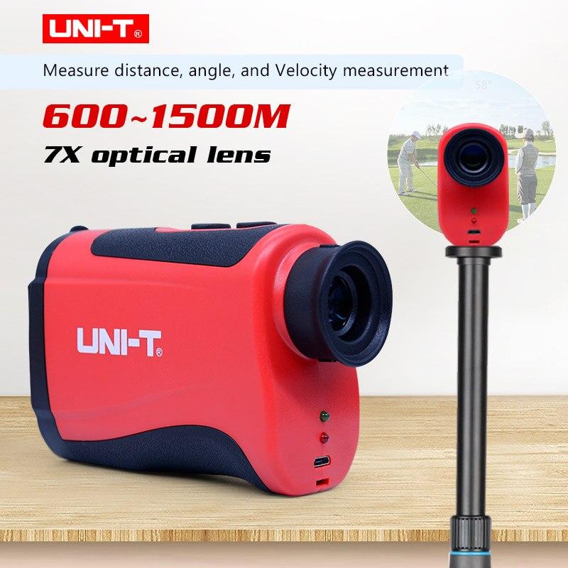 Golf teleskop dalmierz laserowy przenośne 7X teleskop z zoomem optycznym laserowe Rangefinde UNI-T LM600 LM800 LM1000 LM1200 LM1500
