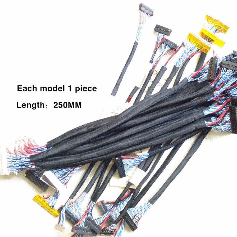 Meisten Gebrauchte Universal Lvds-kabel für LCD-Panel Unterstützung 14-26 zoll Bildschirm Package Verkauf Freies Verschiffen 18 TEILE/SATZ für reparatur