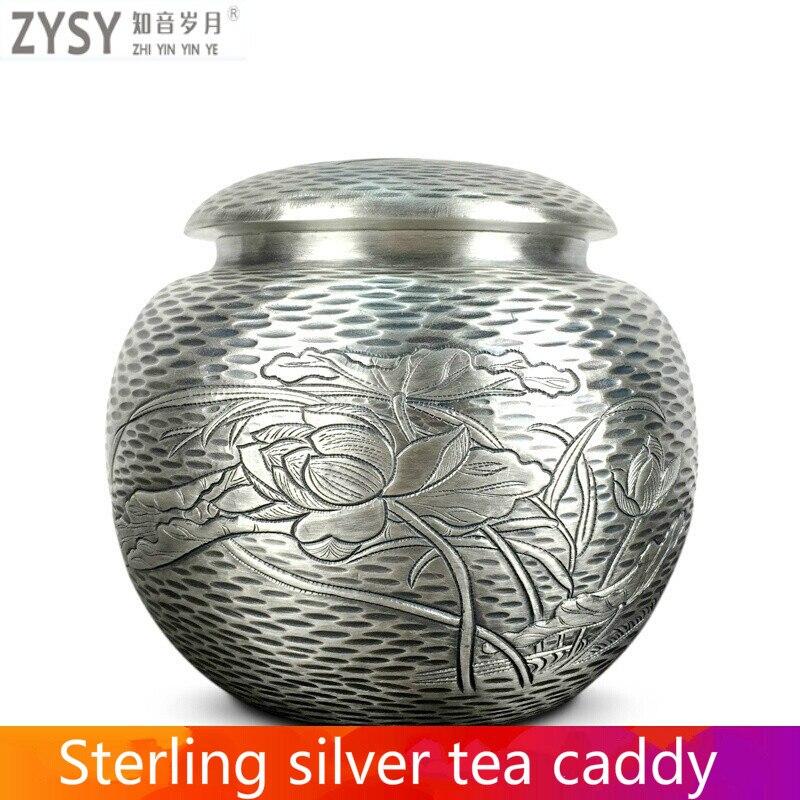 Bouilloires en argent pur exquisi teteapot tasse à thé chinois kung fu ensemble de thé drinkware