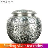 Reinem silber exquisi teteapot wasserkocher tee tasse chinesischen kung fu tee set drink-in Teegeschirr-Sets aus Heim und Garten bei