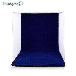 Image 5 - 60x60x60 cm portátil dobrável softbox fotografia estúdio suave caixa de luz tenda com 4 foto backdrops para iphone samsang htc dslr