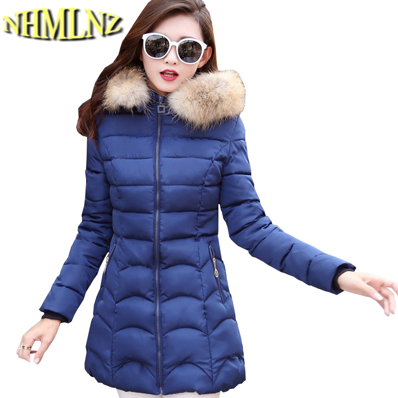 New Fashion Winter Jacket Women Fur Collar Hooded Jacket warm Thick Coat Large size slim For Women Outwear Parka Women G2786 women winter jacket fashion warm fur collar jacket casual solid thick hooded winter clothes luxury gift for lover