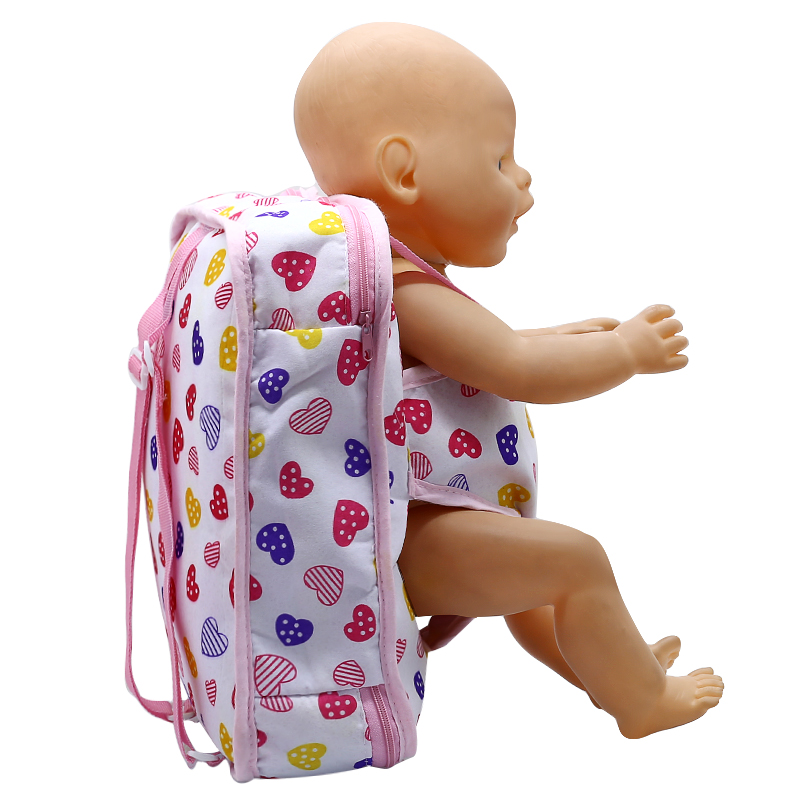 Baby Born Doll Outgoing Packets Multicolor Outdoor Carrying Doll Backpack for 43cm Baby Born Zapf Doll + American Girl Doll 132 designs for health prenatal pro essential packets 60 pkts