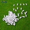 Alta calidad 100 unids/lote 1:500 escala ABS de plástico blanco coche modelo de tren diseño