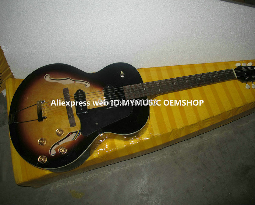 wholesale guitars newest hollow sunburst jazz guitar p90 pickups best selling in guitar from. Black Bedroom Furniture Sets. Home Design Ideas