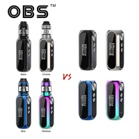 OBS Cube VW Box MOD vs OBS Cube VW Kit with 4ml Mesh Tank with 3000mAh battery max 80W output vape box mod Electronic Cigarette