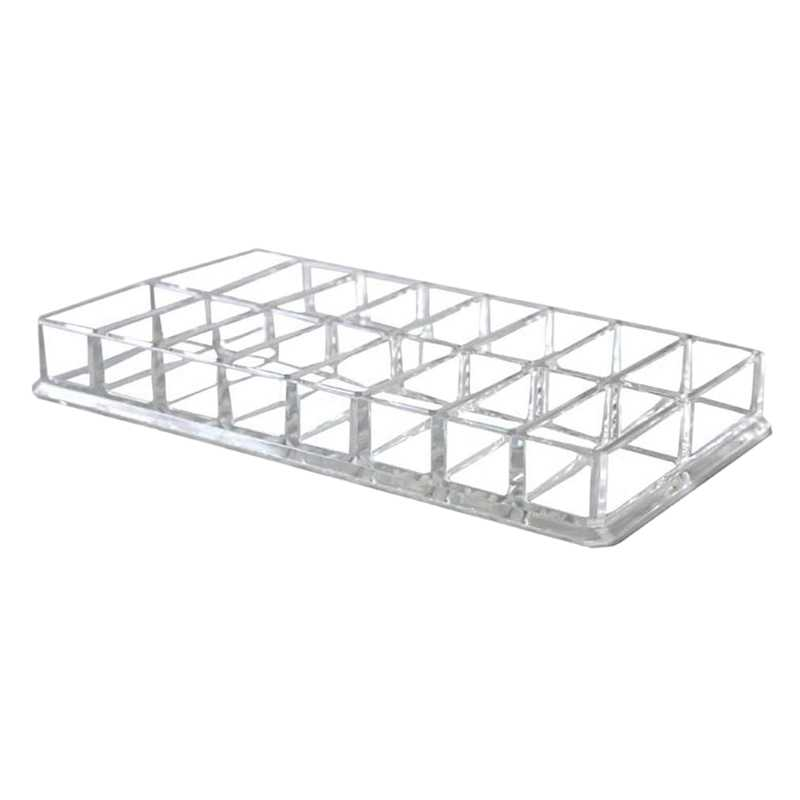 Eyeshadow Organizer Box, Acrylic Cosmetic Makeup Organizer Beauty Care Holder For Compact Eyeshadow, 16 Spaces Storage Case