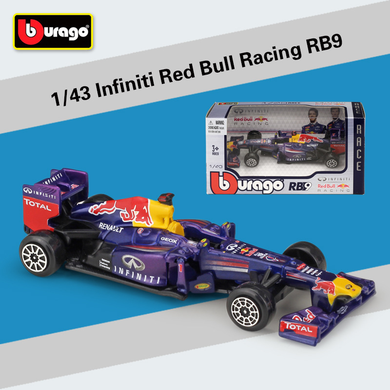 Bburago 1:43 Scale F1 Red Bull Infiniti Racing RB9 Diecast Metal <font><b>Model</b></font> <font><b>Car</b></font> For Collection Friend Gift image