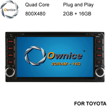 Ownice C200 Android 5.1 Quad Core de DVD Del Coche para Toyota Hilux VIOS Viejo Camry Corolla RAV4 Prado Prado 2003-2008 de Radio GPS Sat Nav