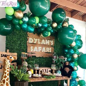 Jungle Decorations Jungle Theme Party Tropical Party Palm Leaf Balloon Luau Hawaiian Summer Hawaii Safari Birthday Supplies(China)