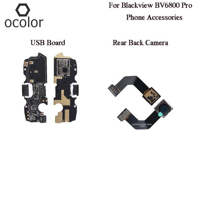 Ocolor עבור Blackview BV6800 פרו USB תשלום התוספת לוח עצרת חלקי תיקון עבור Blackview BV6800 פרו טלפון אחורי חזרה מצלמה חדש
