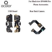 Ocolor para blackview bv6800 pro usb plug placa de carga montagem peças reparo para blackview bv6800 pro telefone câmera traseira nova