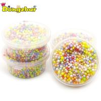 270c657724 1 Bag DIY Rainbow Snow Mud Particles Accessories Slime Balls Small Tiny  Foam Beads For Floam Filler For Special DIY Toys 2-4mm