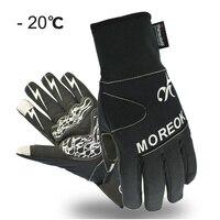 Winter Cycling Gloves Thermal Windproof Warm Fleece Bike Gloves Gel Pads Men Women Anti Slip Water