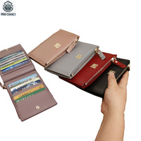 Short Zipper Women Card Holders Fashion And Contracted Two Folder Small Wallet European And American Style