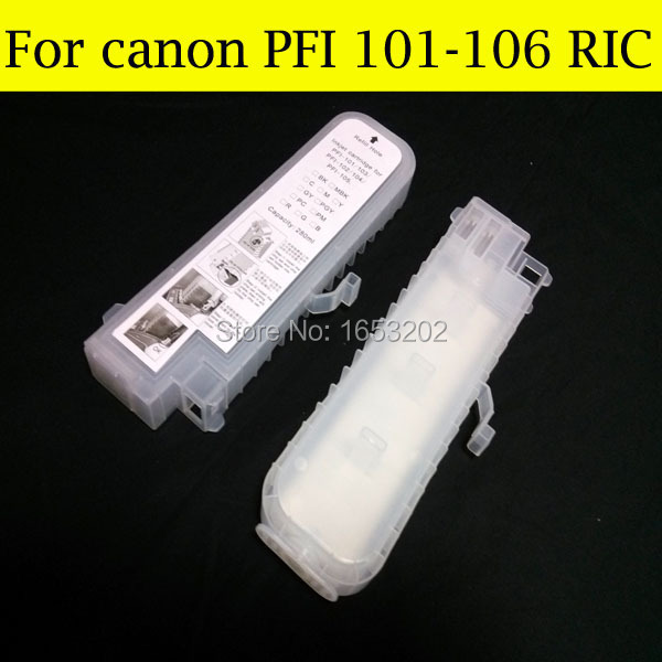 12 P Refillable Ink Cartridge PFI-106 For Canon IPF6400 IPF6460 IPF6410S IPF6410SE Printer(CAN Use For Your Original Chip) 12 p refillable ink cartridge pfi 106 for canon ipf6400 ipf6460 ipf6410s ipf6410se printer can use for your original chip