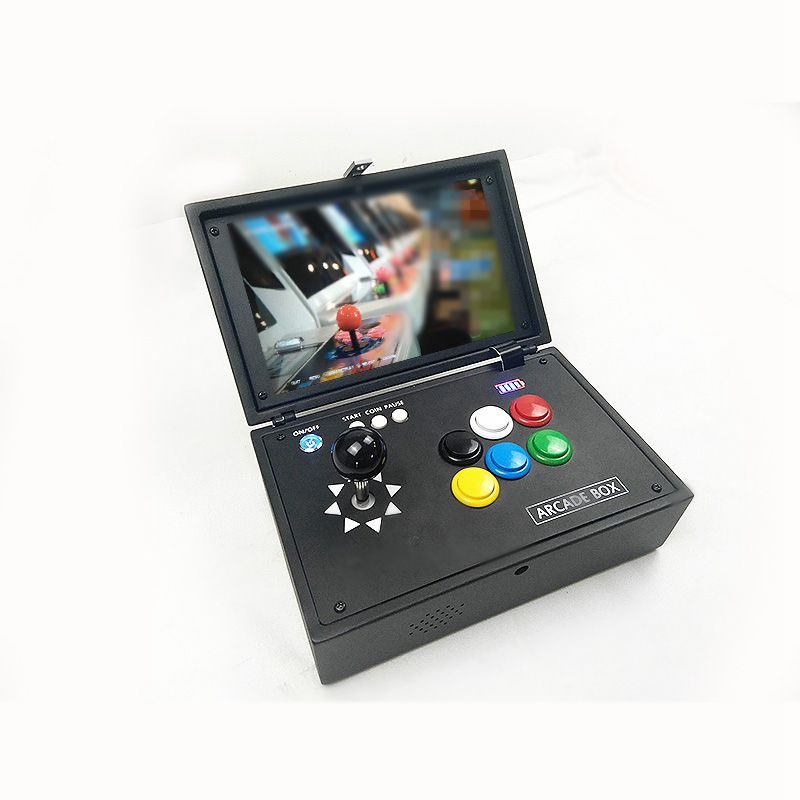 Raspberry Pi 3B+ 14000 Games Recalbox 10 Inch Screen Video Game Console Portable Mini Arcade Gift Machine For Children