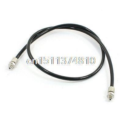 3/16 Fittings Both End 50cm PU Hose Tubing Black for Air Compressor 12 5mm dia quick fittings blue 8x5mm air compressor pu tubing hose 3 3ft