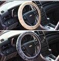 1pc Artificial Wool Plush Winter Car Steering Wheel Cover for Handlebar Grip Yellow / Gray /Blak /for choose