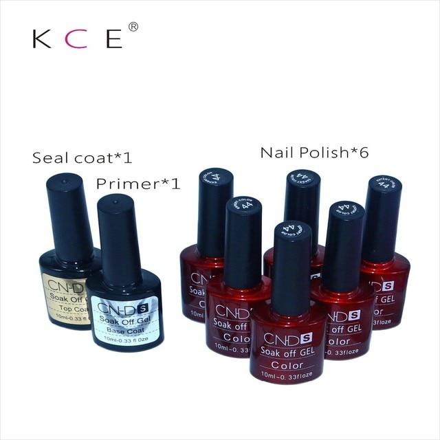 2016 Fashionable Hot Top LED UV gel nail polish Base+ Top Seal @ 6pc nail gel polish Freely Selectable 132 Color Set