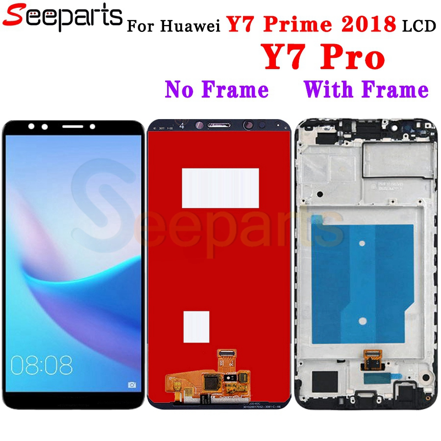 HUAWEI Y7 Prime 2018 LCD Display Touch Screen Digitizer Assembly LND L22 LX2 Replacement Parts 5.99 Huawei Y7 Pro 2018 Screen (2)