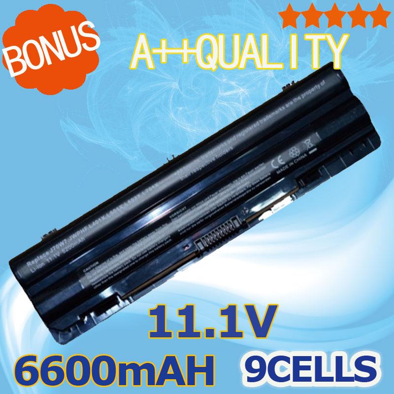 6600mAh Laptop Battery For Dell XPS 14 L401X 15 L501X L502X 17 L701X L702X 312-1123 312-1127 J70W7 JWPHF R795X WHXY3 11 1v 90wh original battery for dell xps15 xps14 xps17 l702x l502x j70w7 r795x genuine xps14 xps15 high capacity battery 9 cell