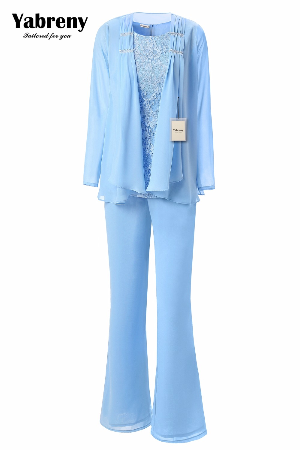Image 2 - Yabreny Elegant Mother of the Bride Pants suit Lavender Chiffon Outfit for Special occasion MT001704 2-in Mother of the Bride Dresses from Weddings & Events
