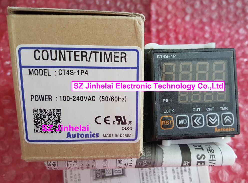 New and original  CT4S-1P4(CT4S 220V) AUTONICS Counter/ Timer 100-240VAC 50/60Hz
