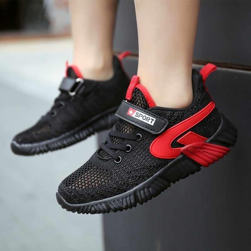 Çocuk koşu ayakkabıları yaz erkek spor ayakkabılar Tenis Infantil çift ağ nefes kızlar shoes Enfant büyük boyutu 29-40 mavi