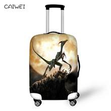 3D Dinosaur Animal Luggage Cover Waterproof Elastic Men Travel Suitcase Covers For 18 20 22 24 26 28 30 Inch Cases(China)