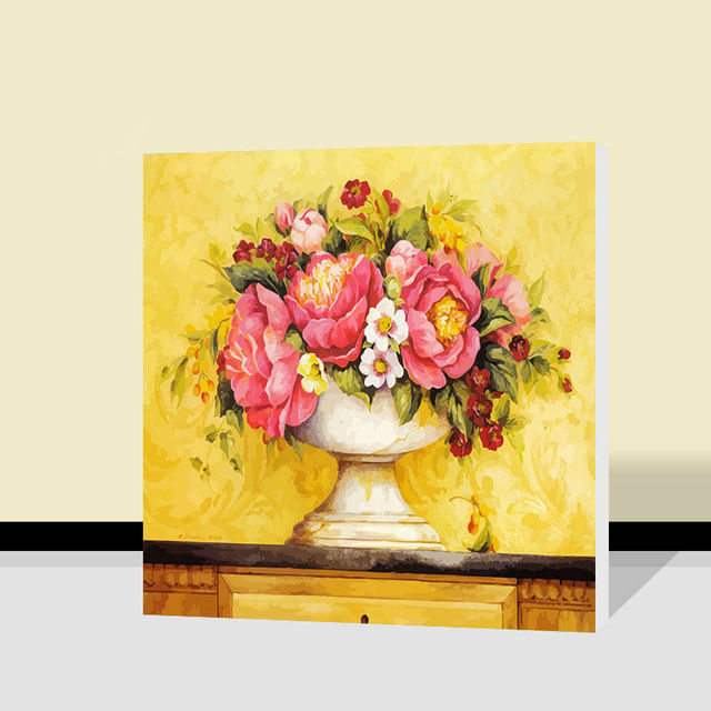 painting by numbers Sun flowers coloring by numbers Acrylic wall art ...