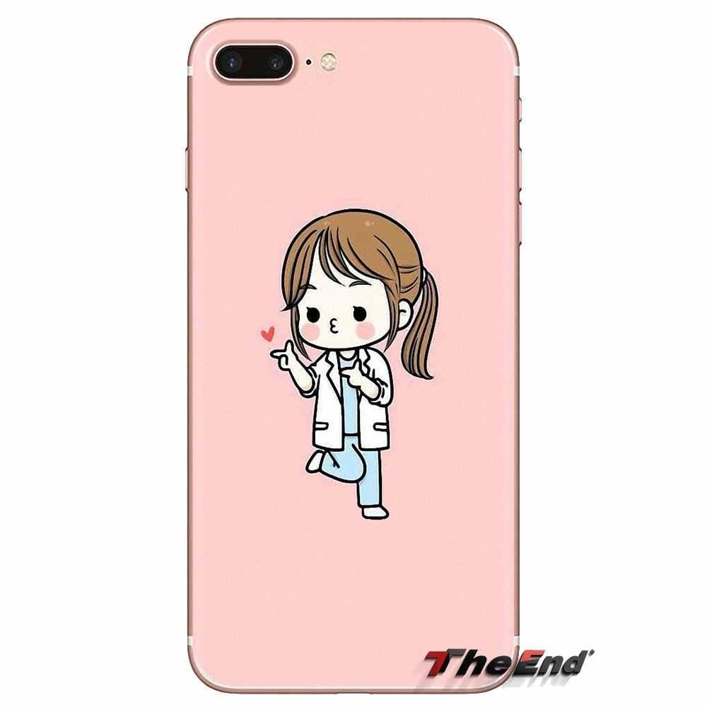 Miękkie przezroczyste obudowy pokrowce do Xiaomi Redmi 4A S2 uwaga 3 3S 4 4X5 Plus 6 7 6A Pro Pocophone F1 Cartoon medycyna pielęgniarka