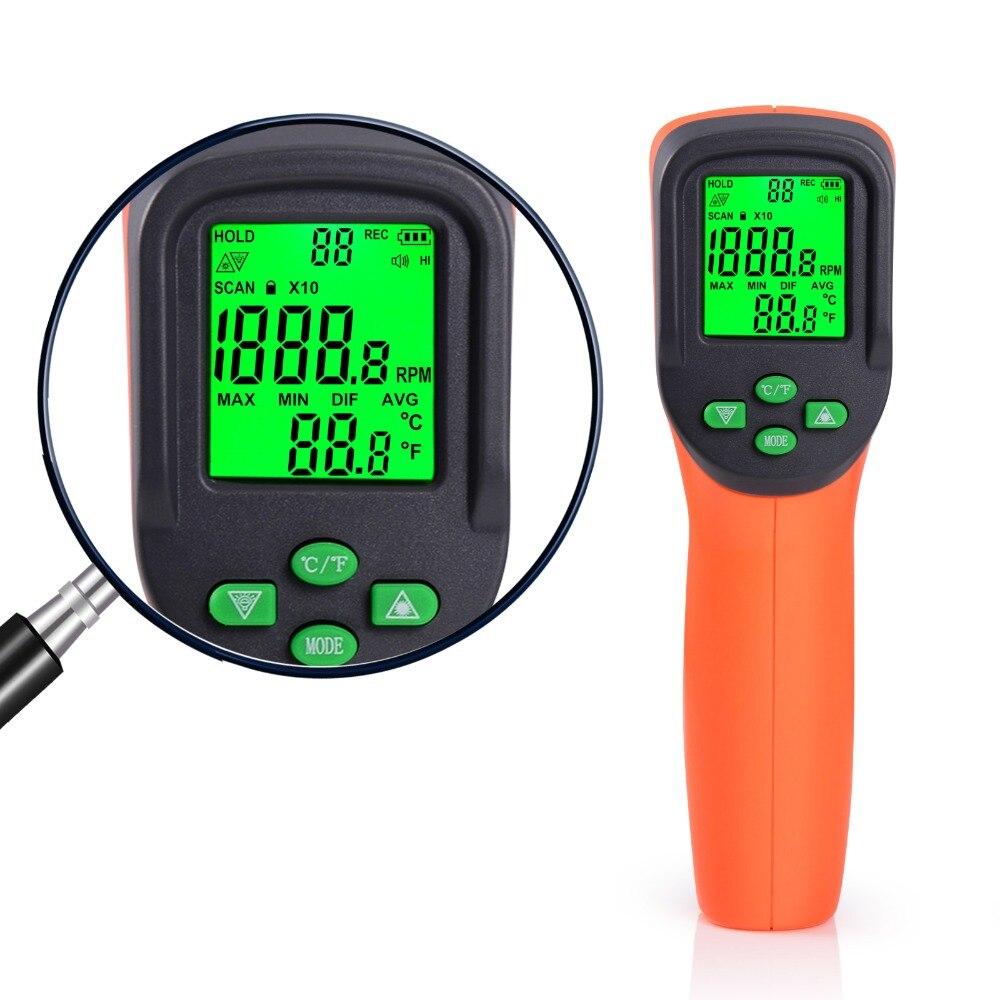Image 5 - FOSHIO Tachometer 10 99999 RPM Meter Digital Laser Gauges Non contact Photoelectric Auto Tachometers Car Speed Gauge Speedometer-in Tachometers from Automobiles & Motorcycles