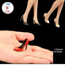 في المخزون Feeltoys 1/6 1/12 مقياس OL الإناث عالية الكعب أحذية فتاة الدمى أحذية ل 6 بوصة 12 بوصة عمل الشكل