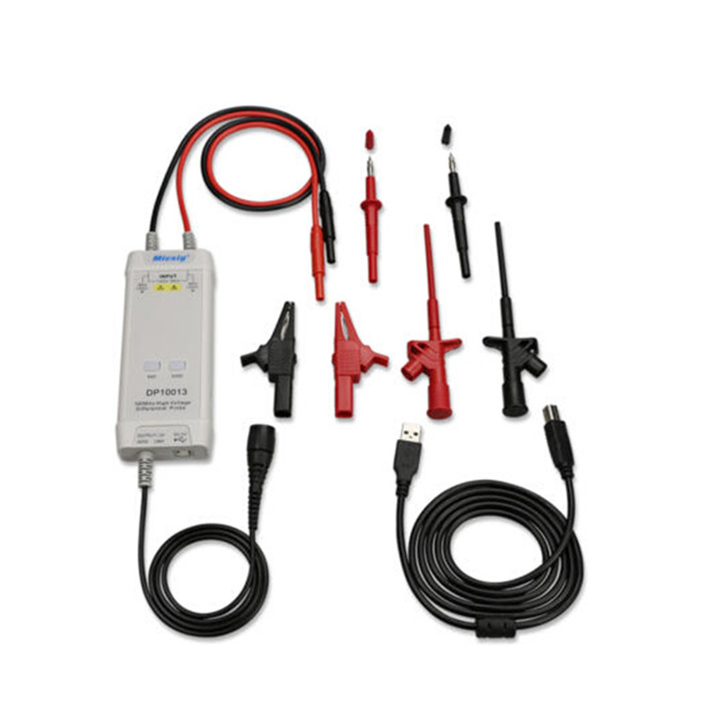 Micsig Oscilloscope 1300V 100MHz High Voltage Differential Probe kit 3.5ns Rise Time Oscilloscope Probe Parts Accessories new 1pcs dso138 2 4 tft digital oscilloscope kit diy parts 1msps with probe