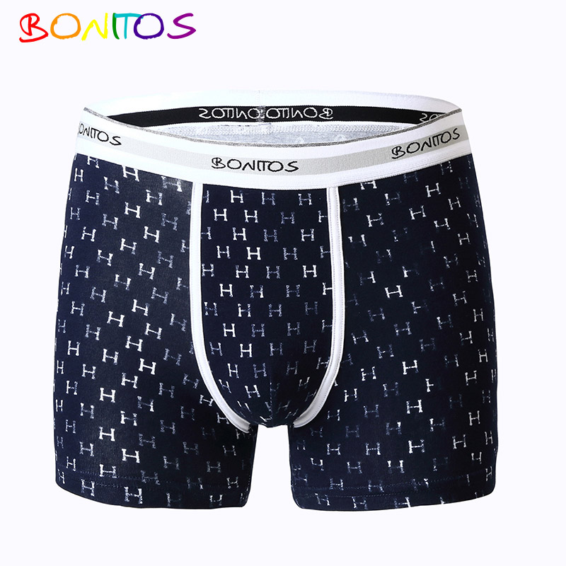BONITOS Top Brand Underpants Male Boxers Men Underwear Boxers Shorts Men Boxer Cotton Solid Male Underwear Cueca Board Shorts