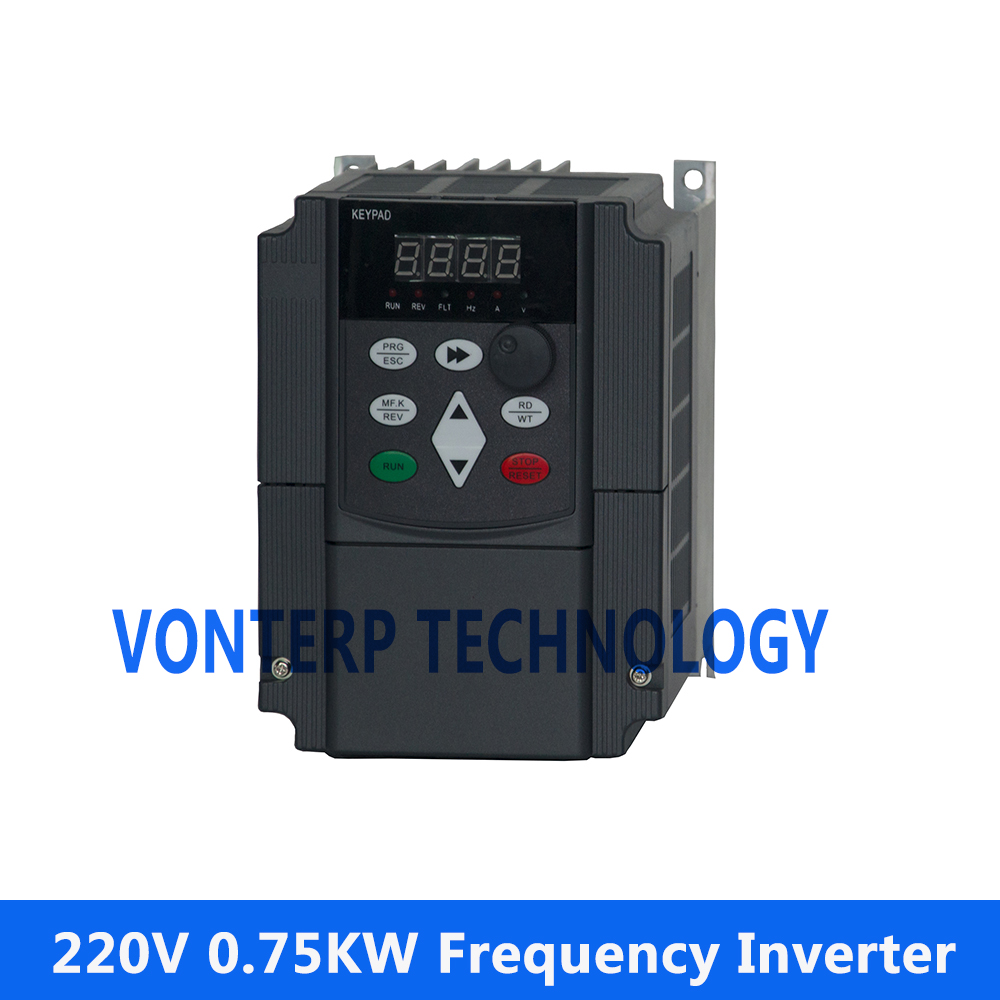 цена на 220v 0.75kw single phase input and 220v 3 phase output AC DRIVE/frequency converter/frequency inverter/variable speed drive