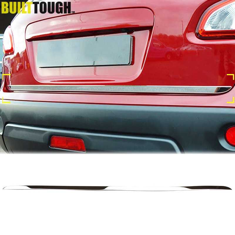 For Nissan Qashqai / Dualis / +2 2007 2008 2009 - 2013 Chrome Rear Trunk Tail Gate Door Cover Molding Strip Bezel Trim Styling