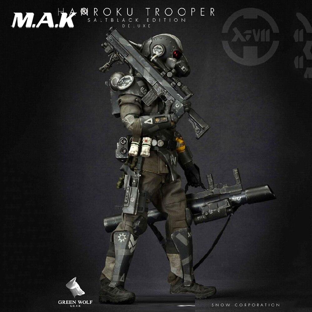 Полный Набор фигурок 1/6 Green Wolf gear Hanroku Trooper Salt Black Edition Deluxe Ver. Для коллекции